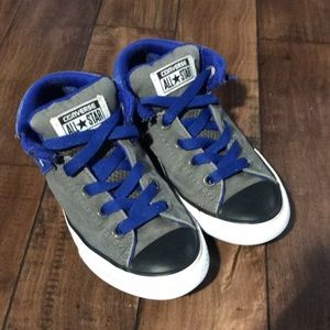 Boys blue converse all stars sneakers